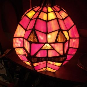 12x9 real tiffany stained glass pumkin light